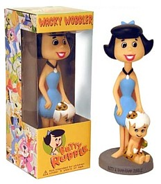 Flintstones Collectibles - Betty Rubble & Bam Bam Bobble Head Doll, Nodder