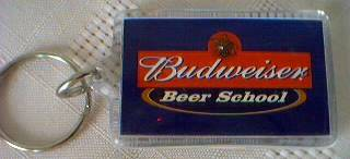 Budweiser Advertising Collectibles - Budweiser Beer School Keyring