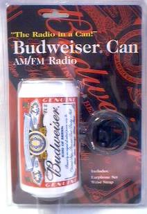 Budweiser Advertising Collectibles - Bud AM/FM Radio