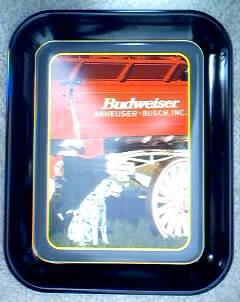 Budweiser Advertising Collectibles - Budweiser Metal Serving