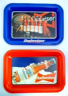 Budweiser Advertising Collectibles - Bud Metal Tip Tray