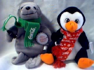a5eaddc4d5b Coca-Cola Collectibles - Coke Seal and Penguin Beanies
