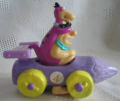 Flintstones Collectibles - Fred Flintstone and Dino in Race Car