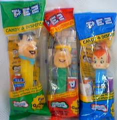 Flintstones Collectibles - Flintstones PEZ Barney, Pebbles, Fred