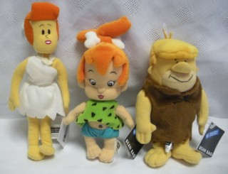 Flintstones Collectibles - Wilma and Pebbles Flintstone and Barney Rubble Plush Beanies