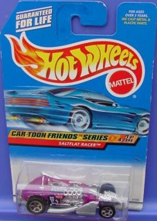Rocky & Bullwinkle Collectibles - Natasha Fatale Hot Wheels Car Saltflat Racer
