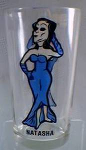 Rocky & Bullwinkle Collectibles - Natasha Fatale Pepsi Glass
