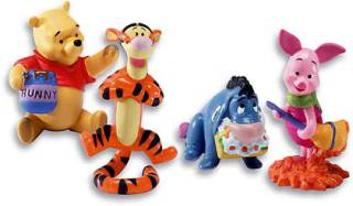 Walt Disney Collectibles - Winnie the Pooh, Eeyore, Piget, Tigger Figures