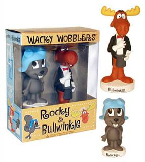 Rocky & Bullwinkle Collectibles - Rocky & Bullwinkle Bobble Head Nodder Bobber Dolls