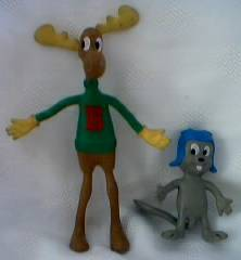 Rocky & Bullwinkle Collectibles - Rocky and Bullwinkle Bendable Figures