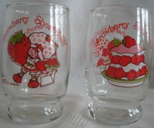 Strawberry Shortcake Glass