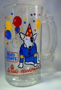 Budweiser Advertising Collectibles - Bud Light Spuds MacKenzie Mug