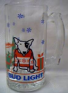 Budweiser Advertising Collectibles - Bud Light Spud MacKenzie XMas Mug