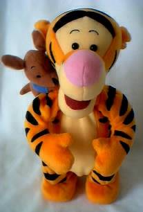 Walt Disney Collectibles - Tigger and Roo Talking Singing Bouncing Plush